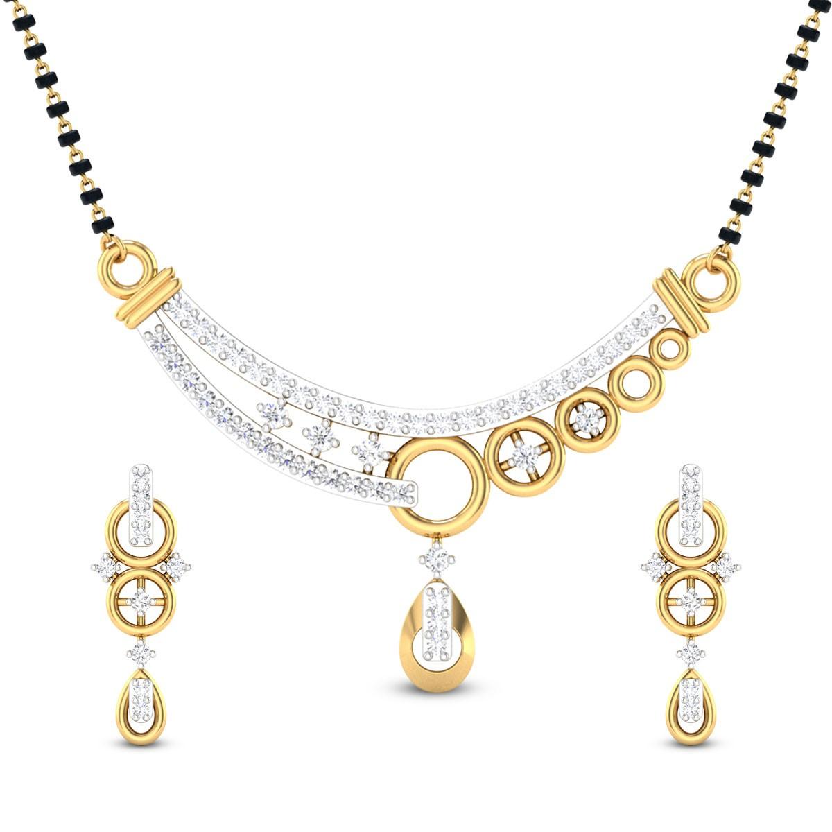 Ashlesh Diamond Mangalsutra Set