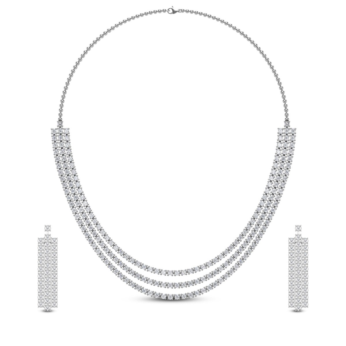 Kashika Diamond Necklace Set