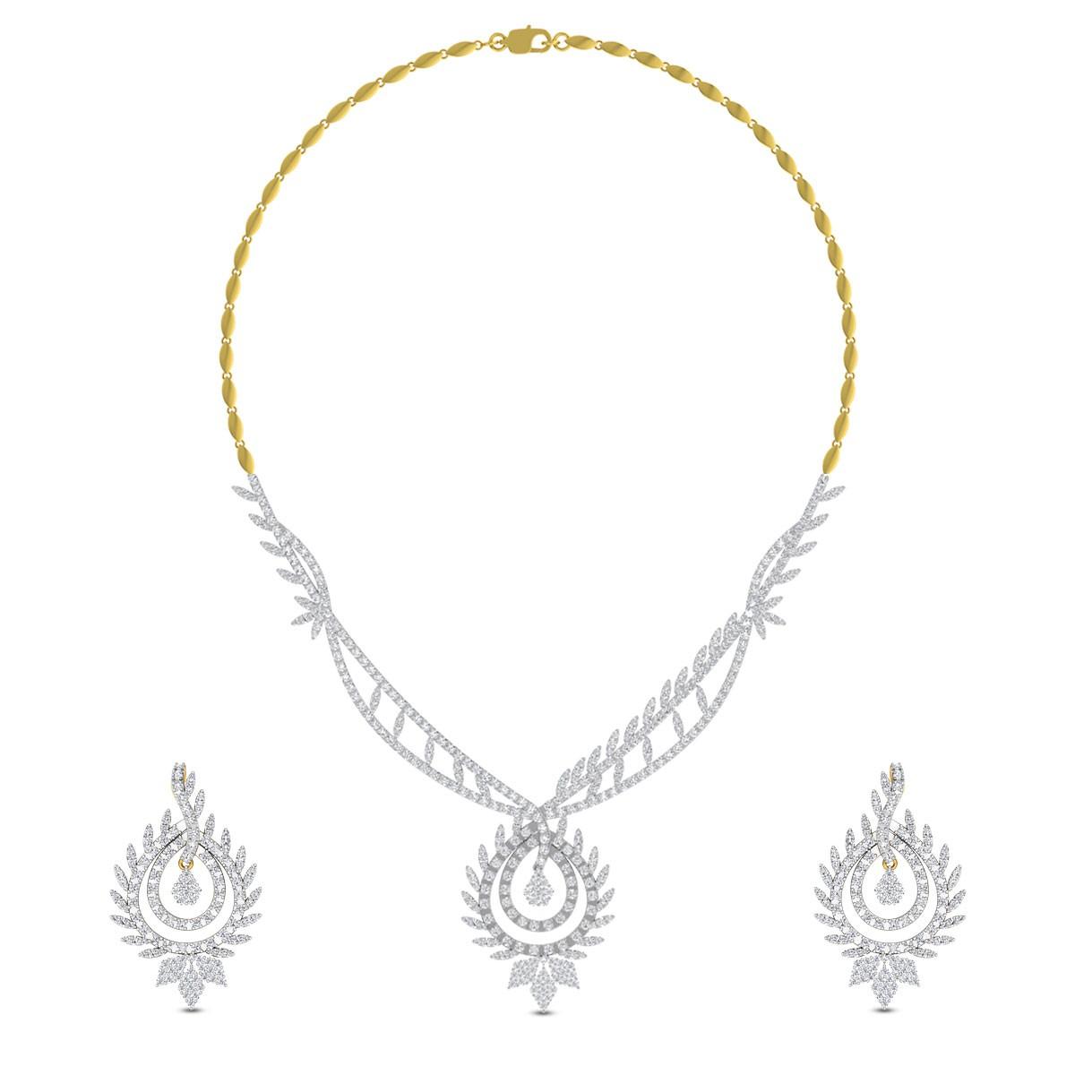 Kamna Diamond Necklace Set