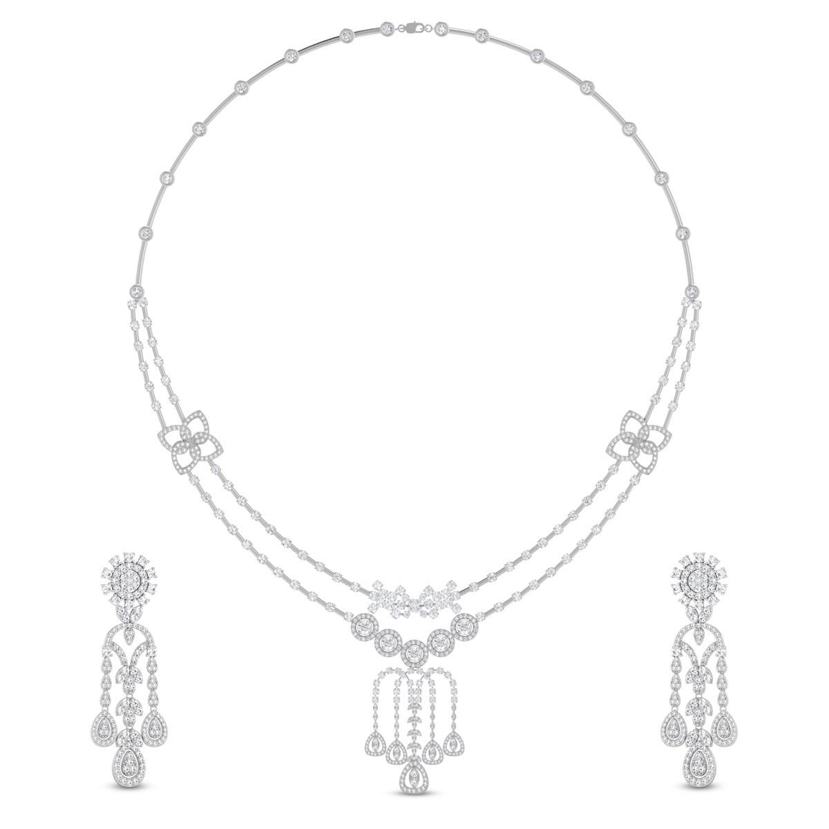 Karabi Diamond Necklace Set