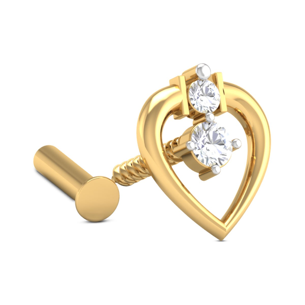 Hearty Leaf Diamond Nosepin