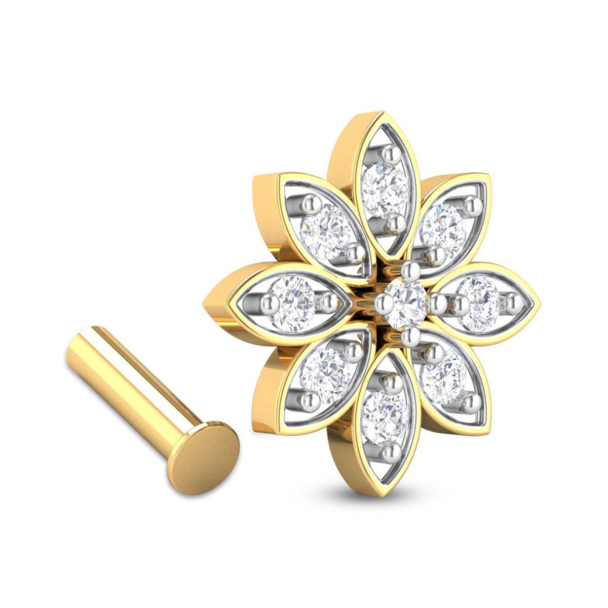 Pierce Nine Stone Diamond Nosepin