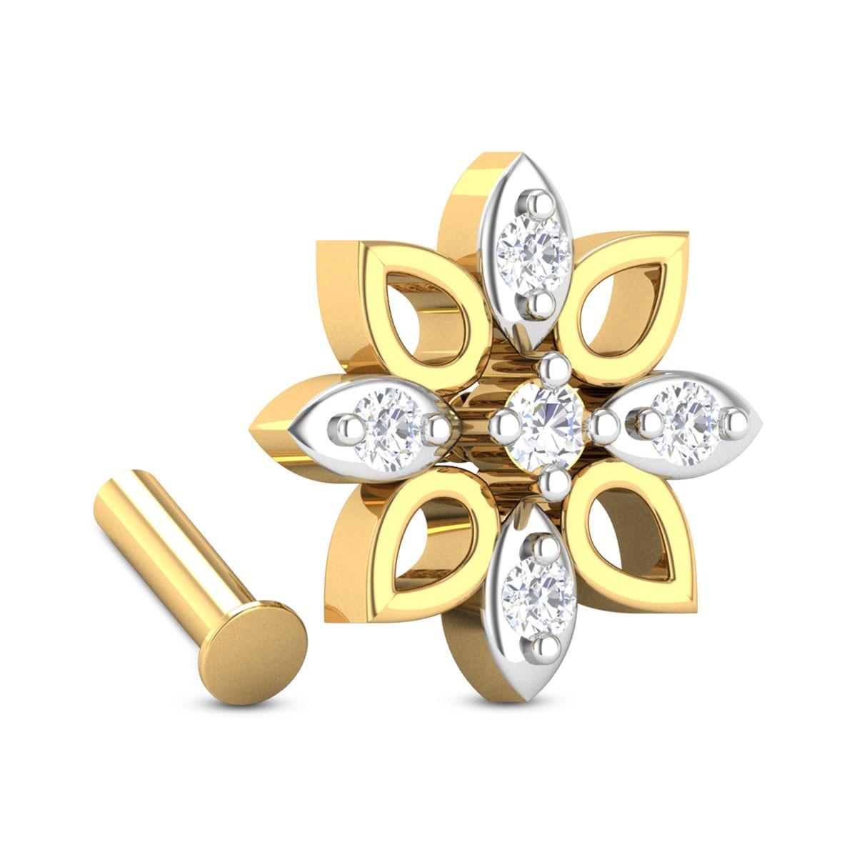 Aiba Floral Diamond Nosepin