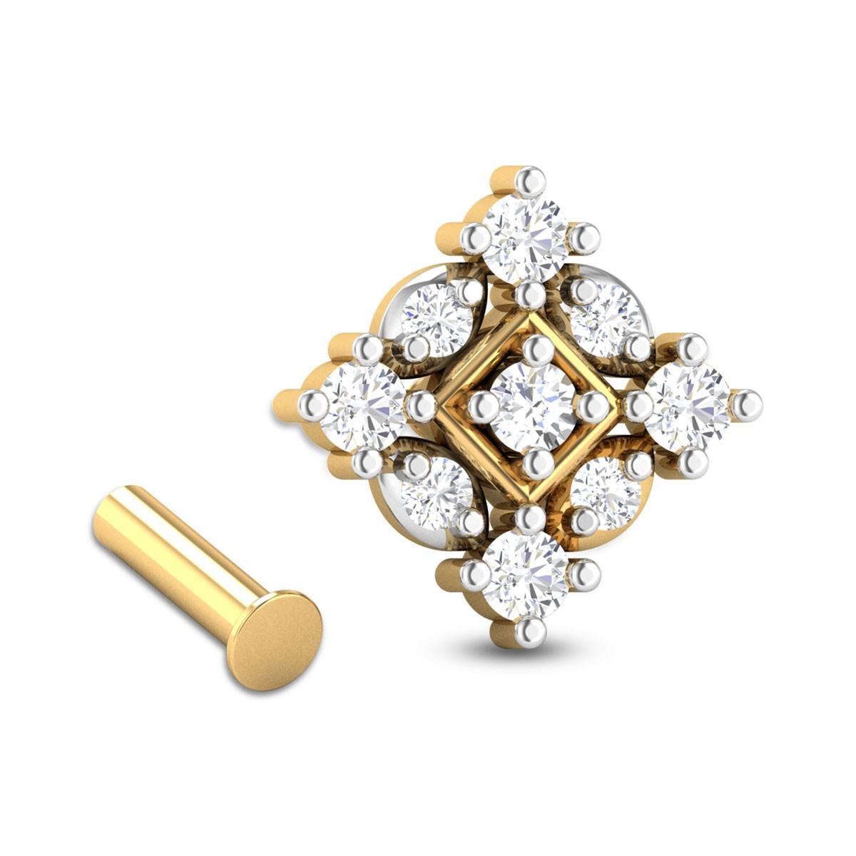 Lionel Nine Stone Diamond Nosepin