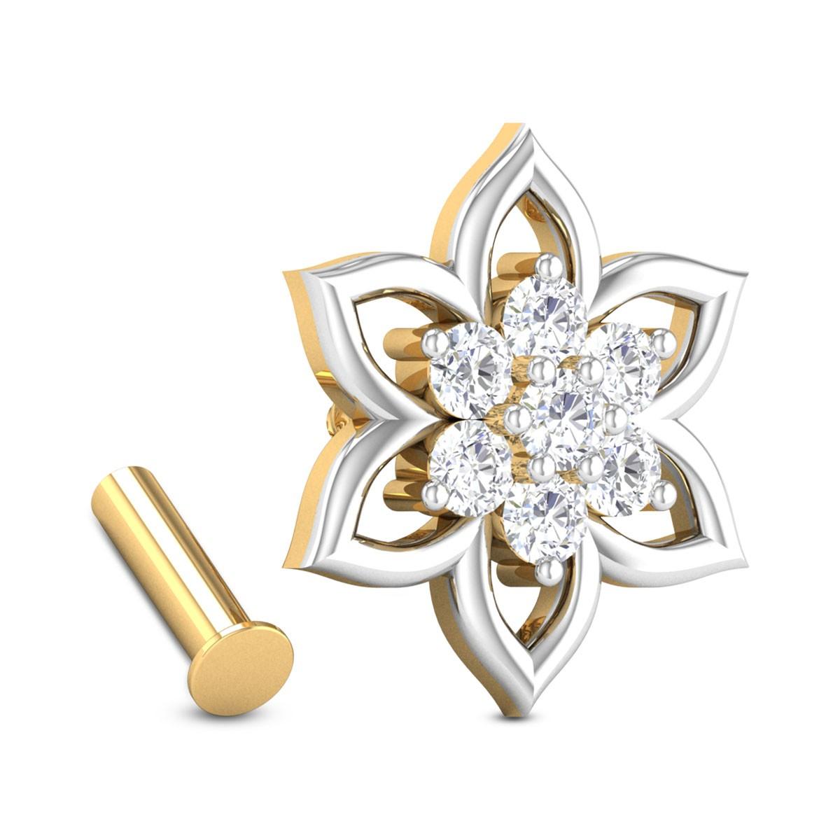 Annabelle Seven Stone Floral Diamond Nosepin