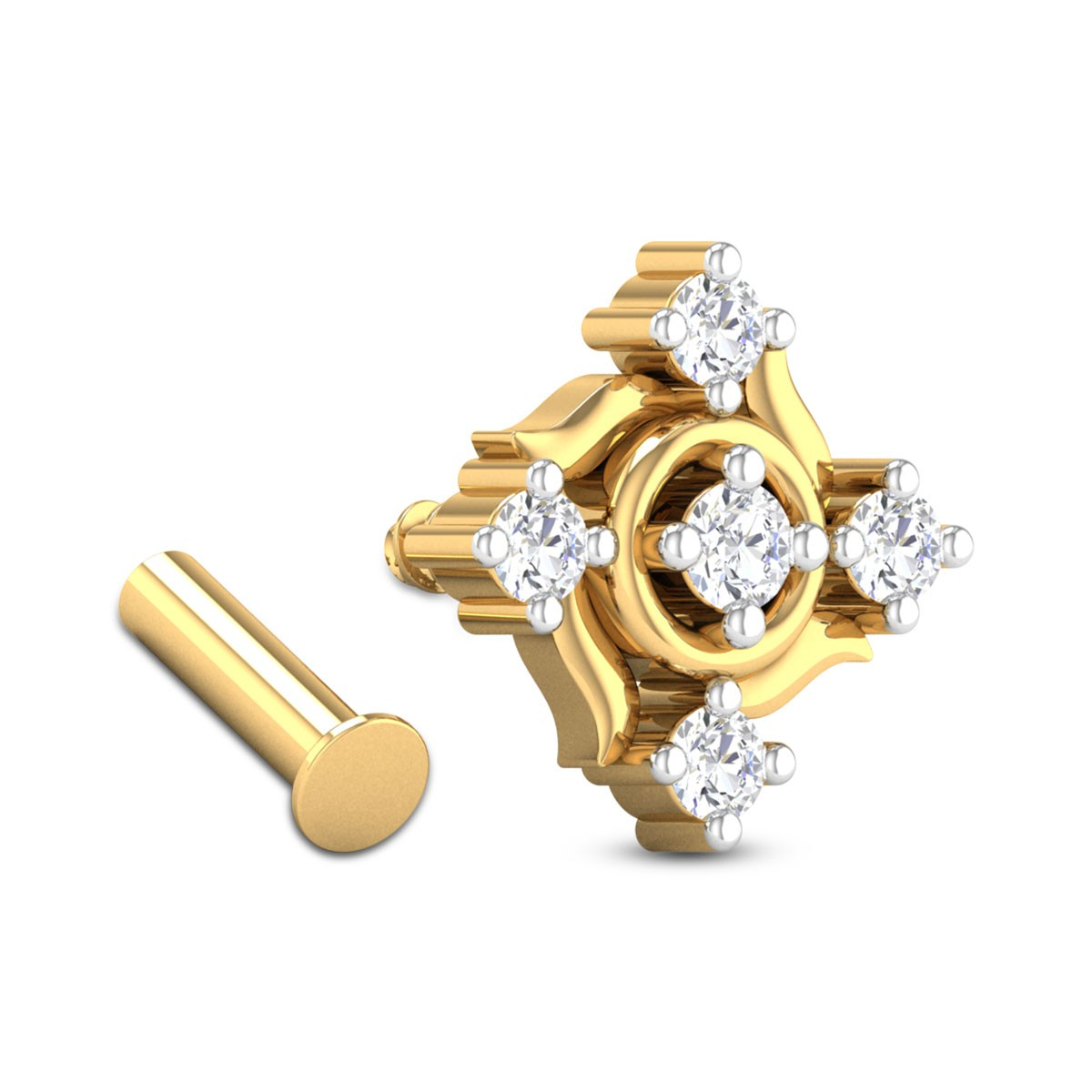 Lennon Five Stone Diamond Nosepin