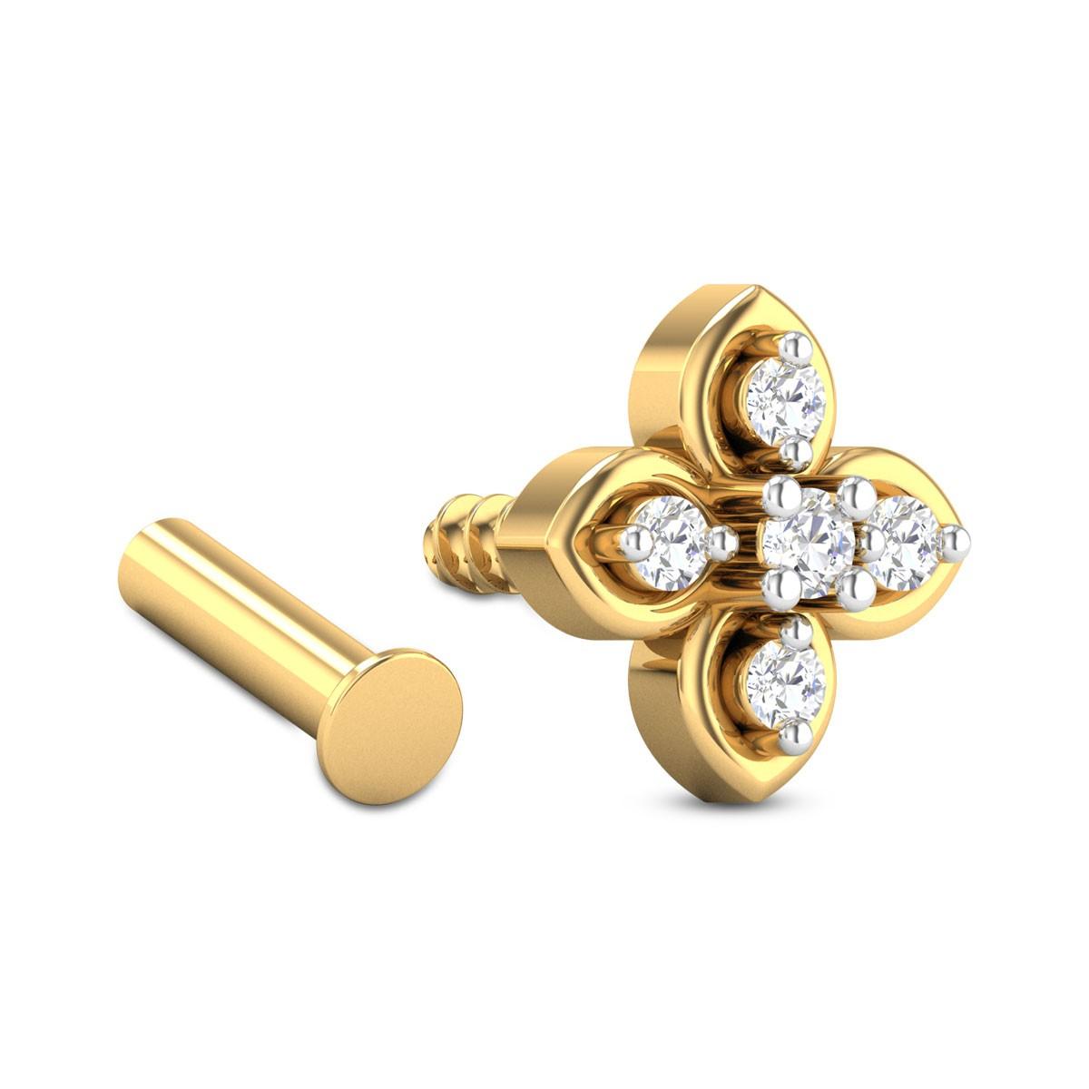 Fabian Five Stone Floral Diamond Nosepin
