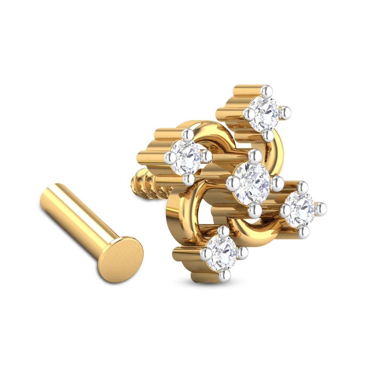 Otis Five Stone Diamond Nosepin