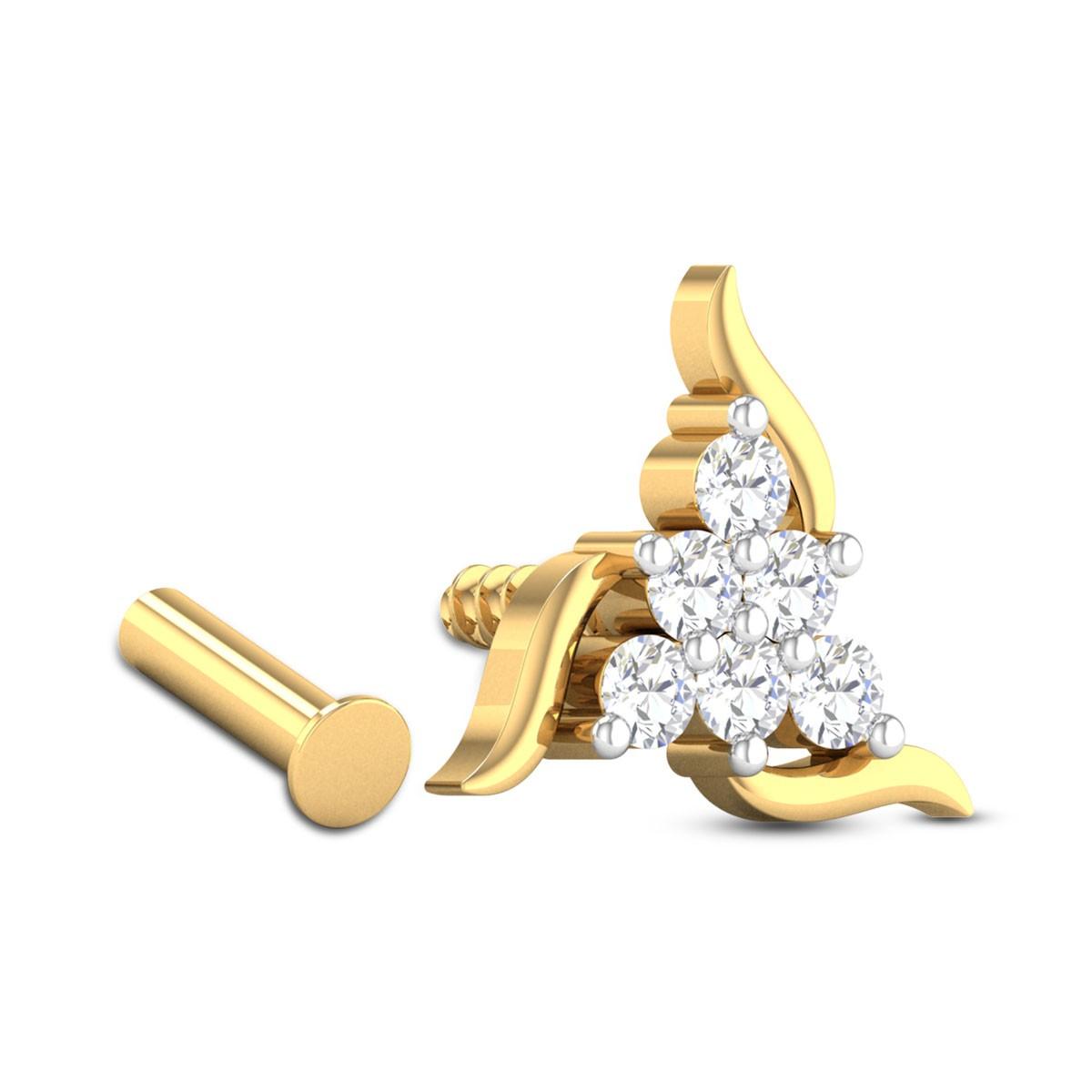 Aarav Six Stone Diamond Nosepin