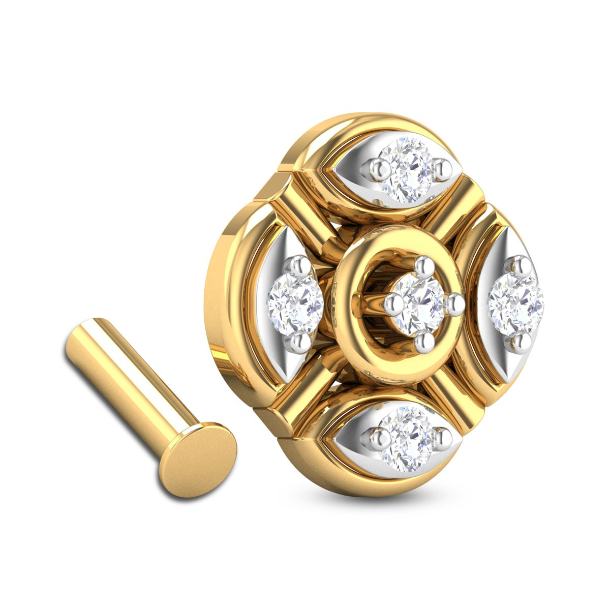 Rhapsody Five Stone Diamond Nosepin