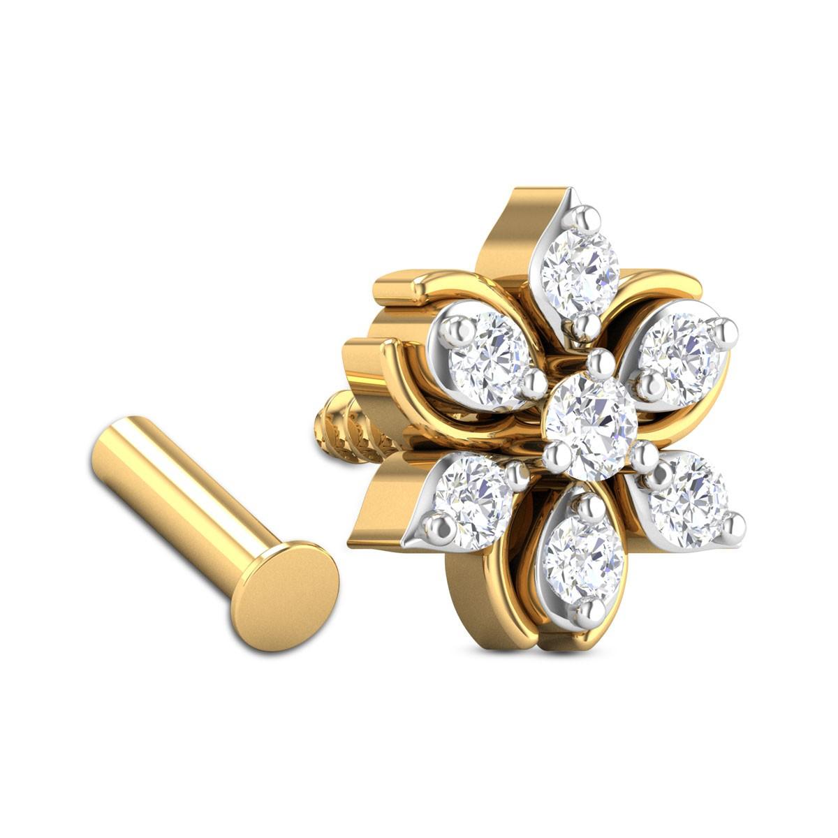 Allegro Seven Stone Diamond Nosepin