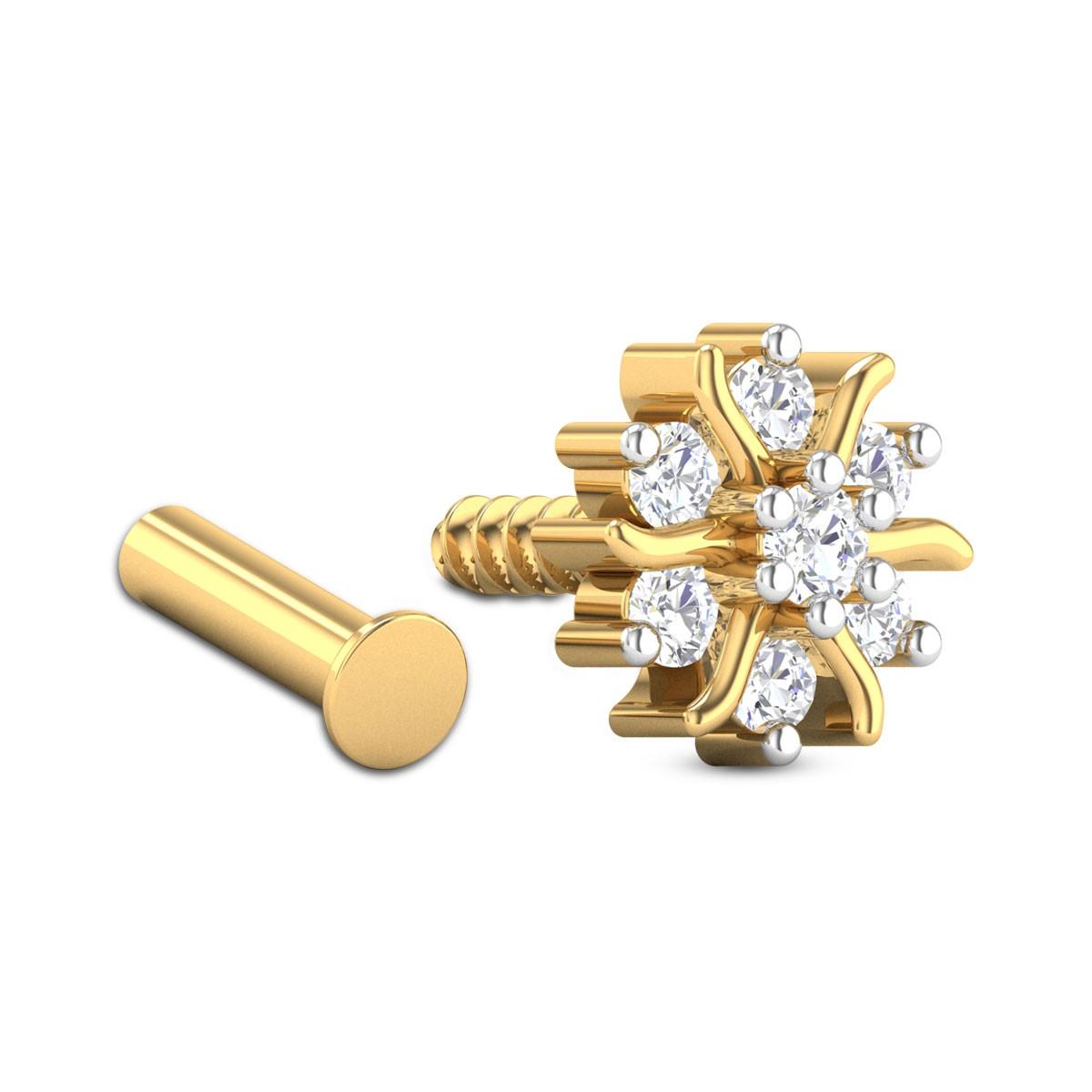 Candida Seven Stone Diamond Nosepin
