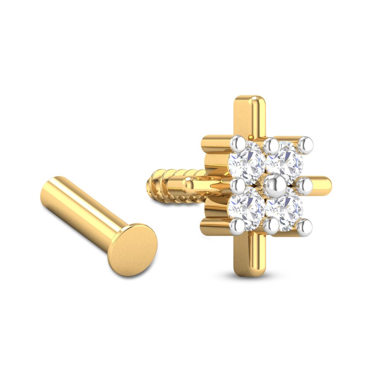 Argentia Four Stone Diamond Nosepin
