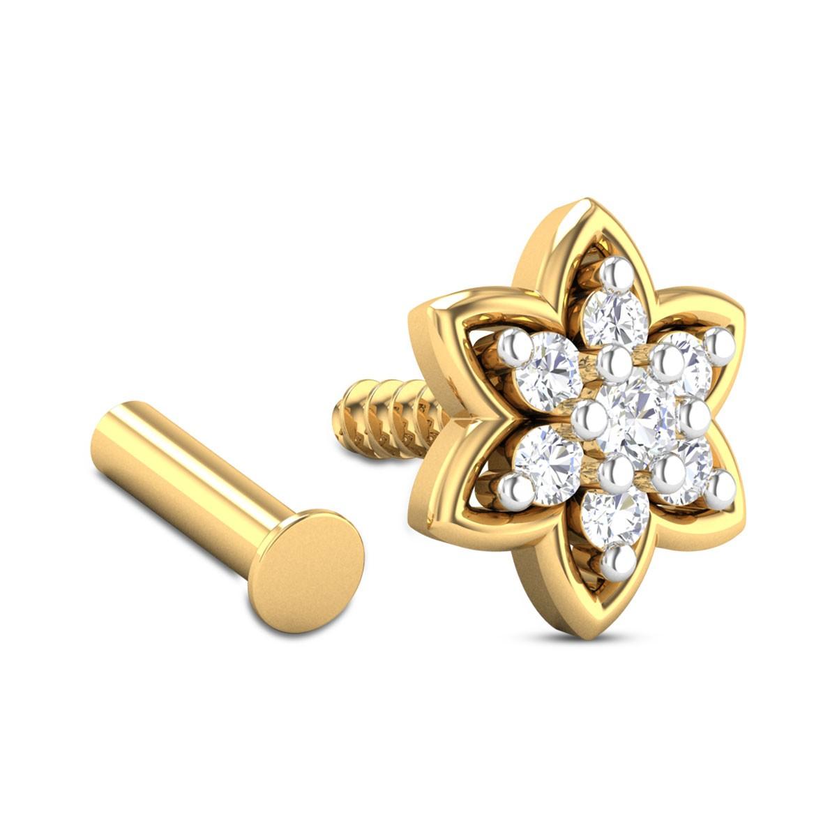 Albia Seven Stone Diamond Nosepin