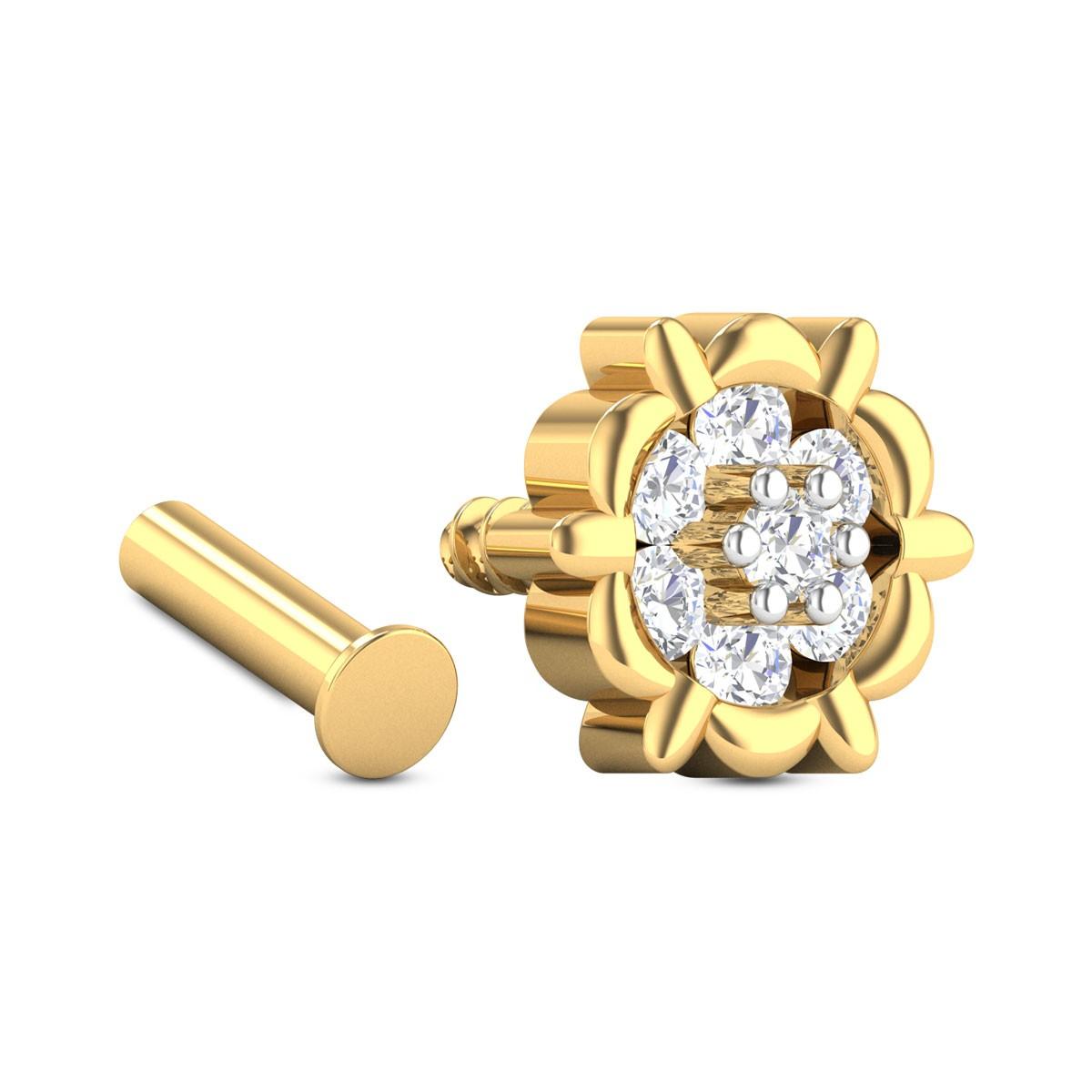 Annia Seven Stone Diamond Nosepin