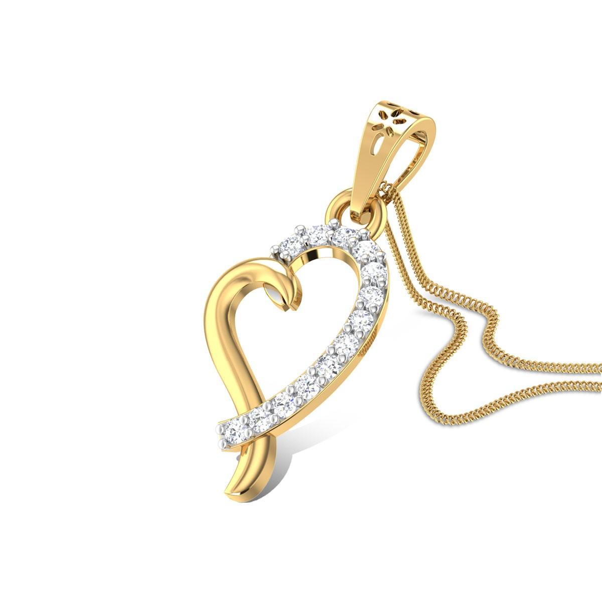Azucena Heart Diamond Pendant
