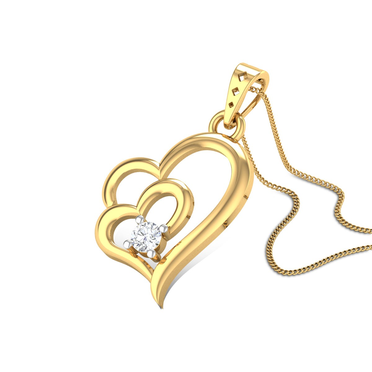 Love Tulip Diamond Pendant