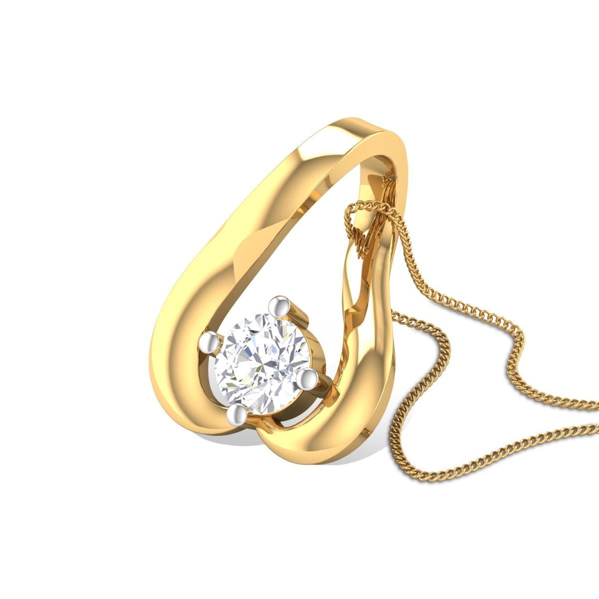 Rose Petal Diamond Pendant