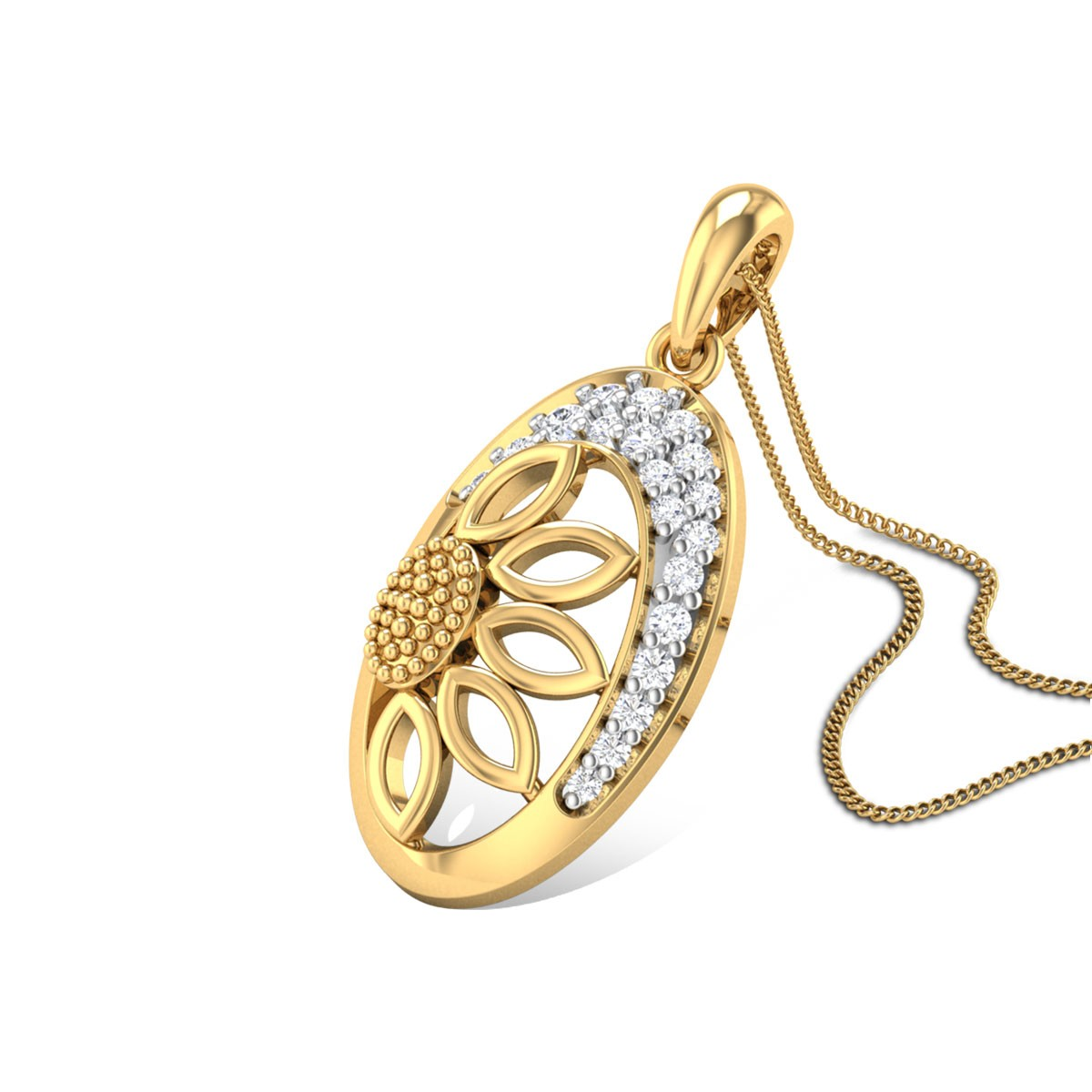 Sunflower Love Diamond Pendant