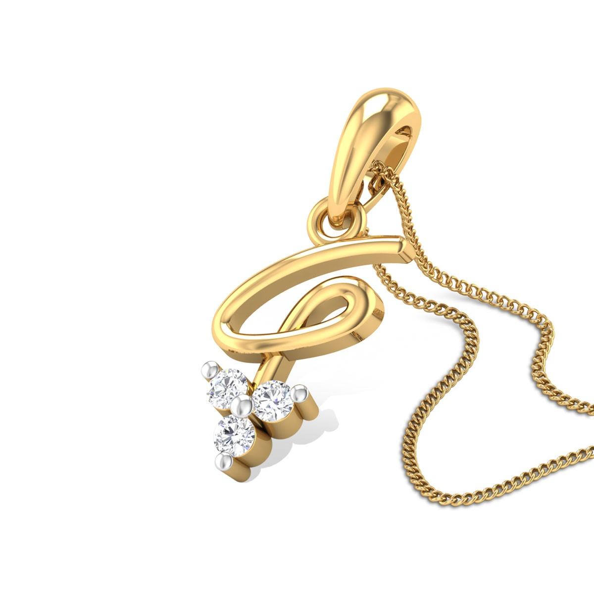 Zola Three Stone Diamond Pendant