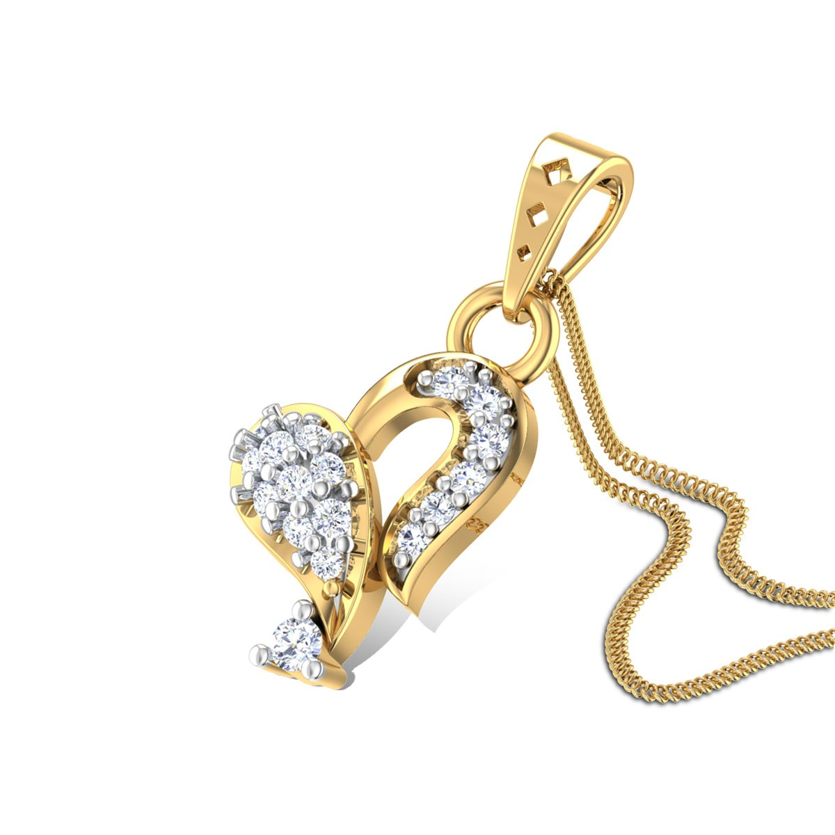 Olivia Heart Diamond Pendant
