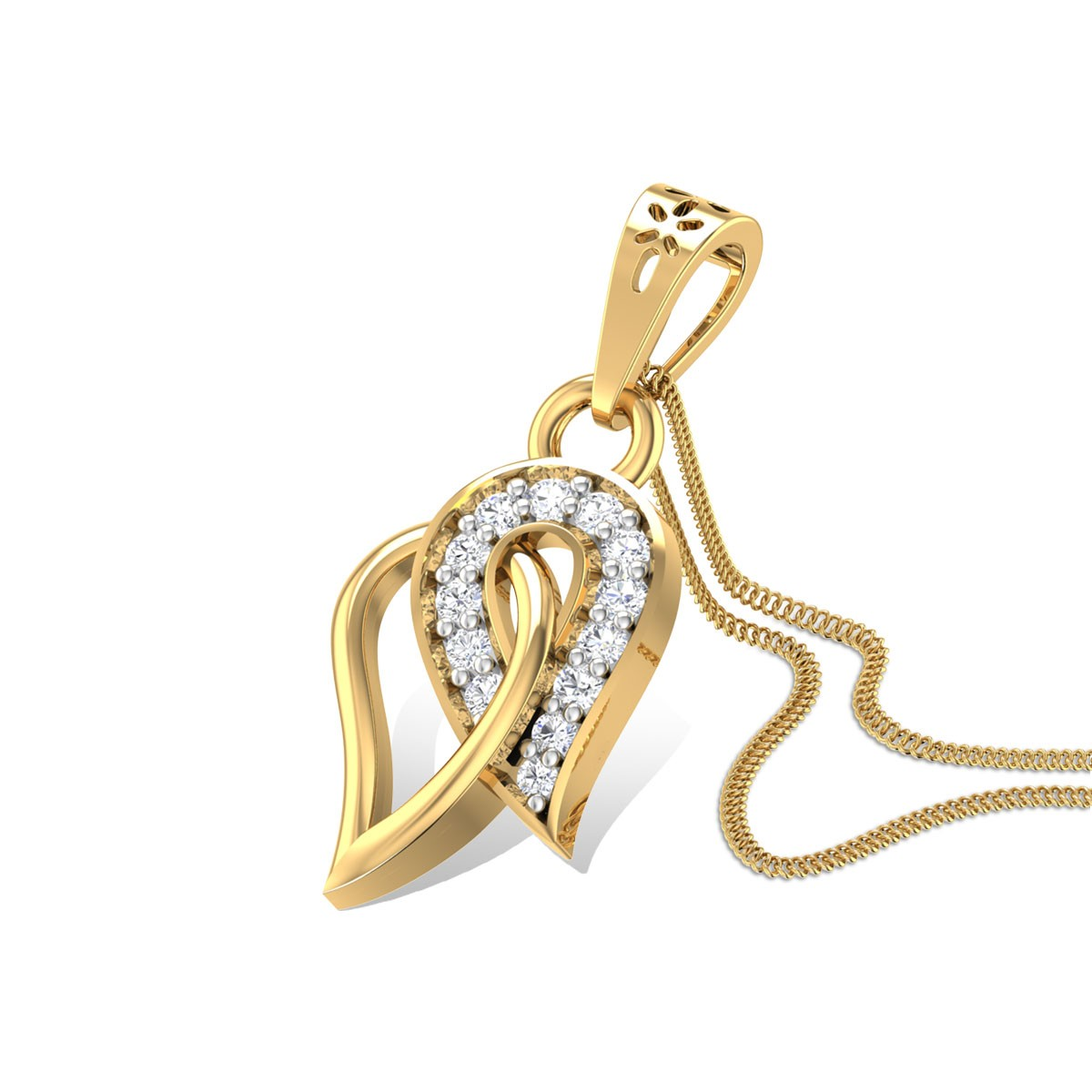 Leaf Bouquet Diamond Pendant