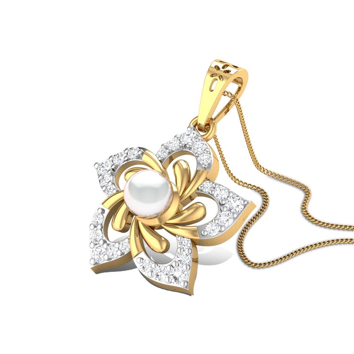 Flowering Pearl Pendant