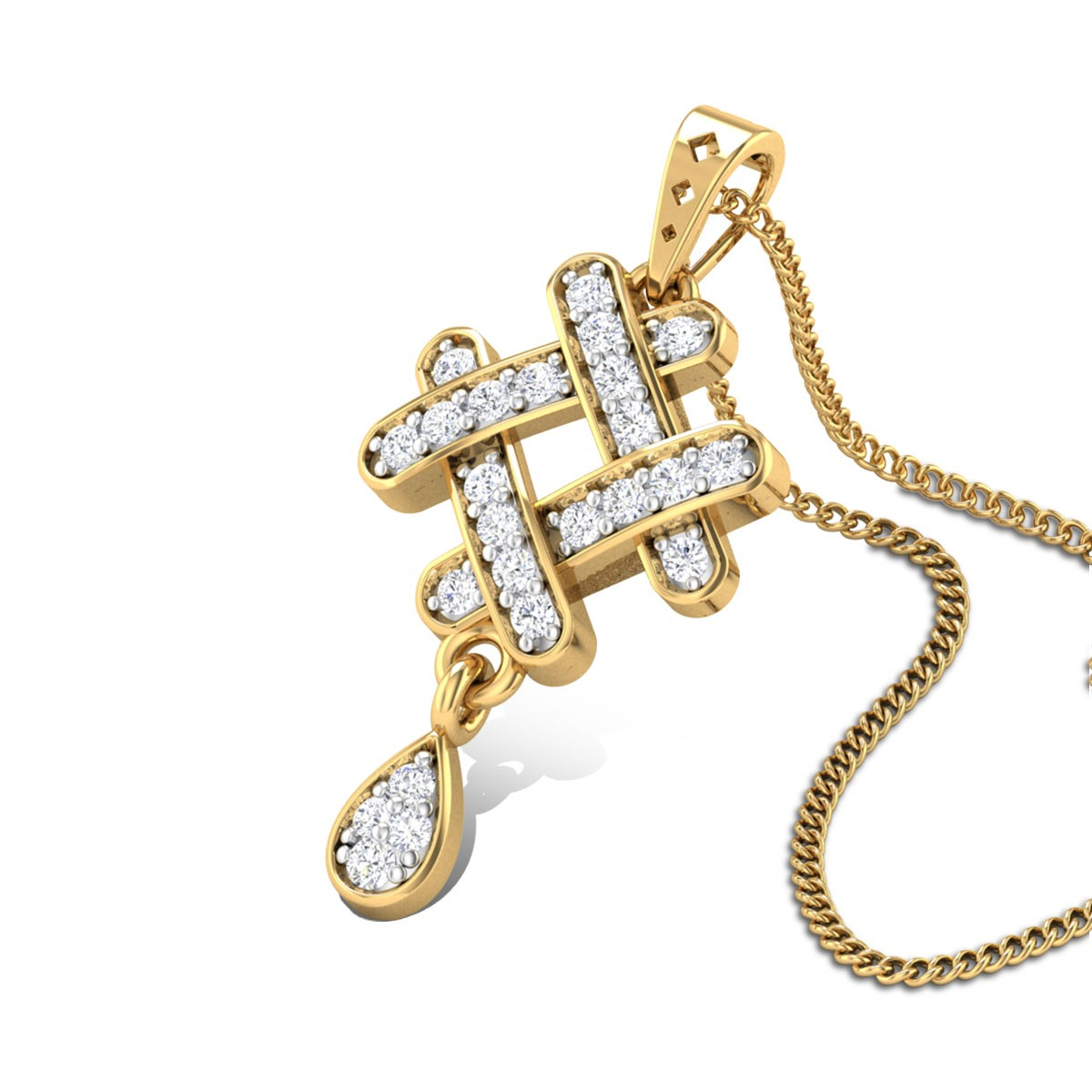 Rangoli Diamond Pendant