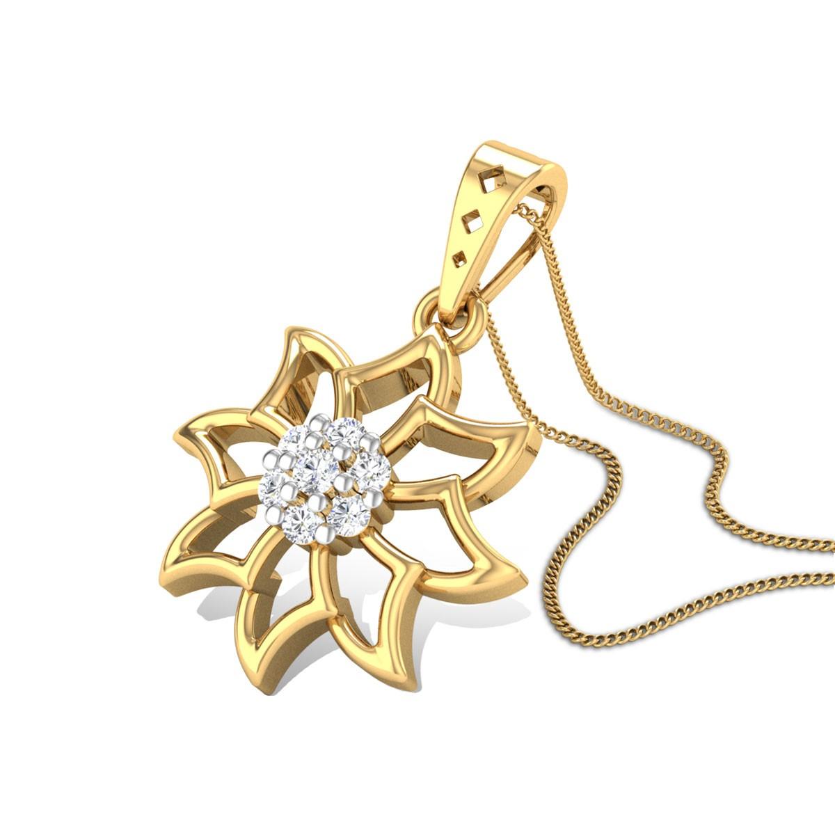 Tulipia Diamond Pendant