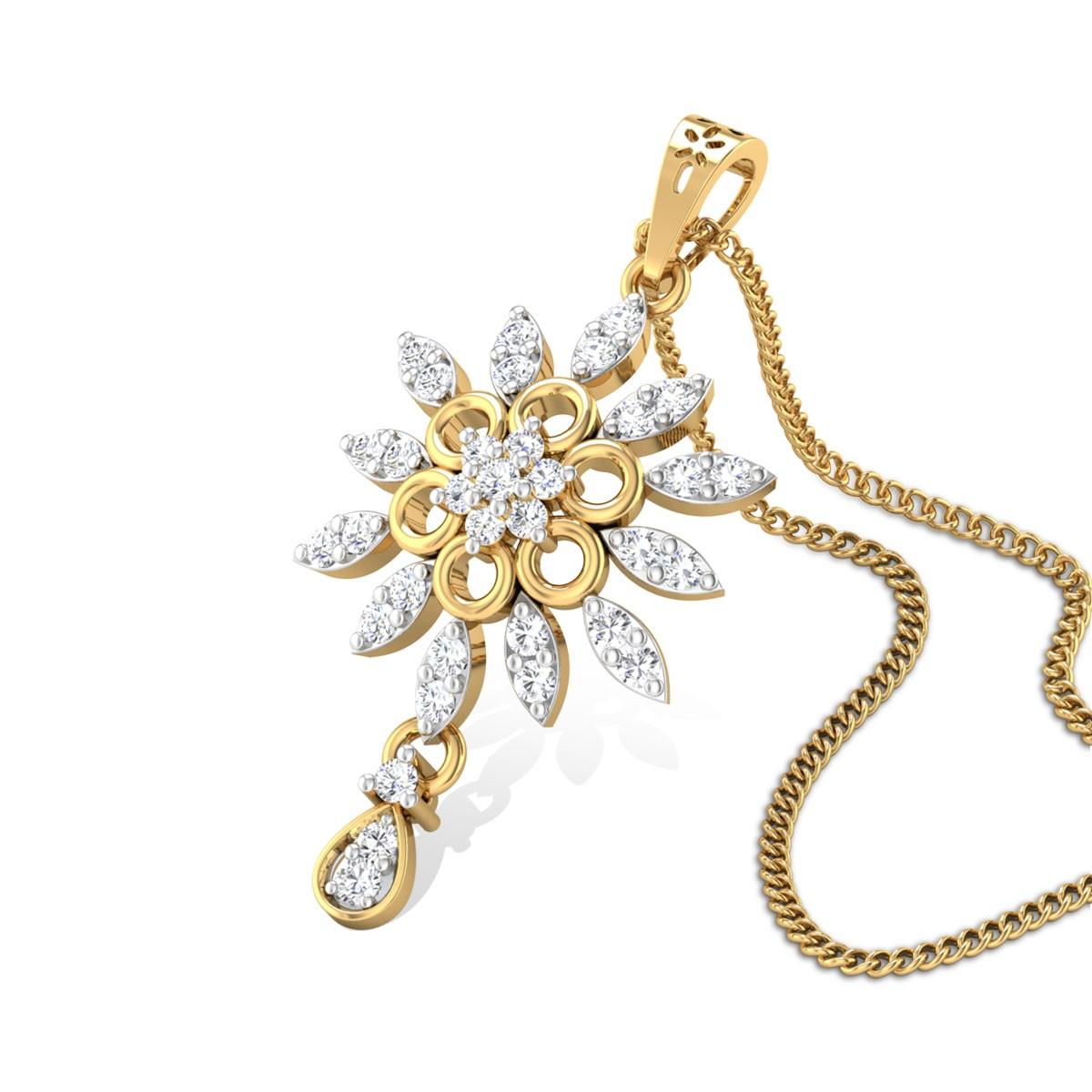 Fleur-De-Lis Diamond Pendant