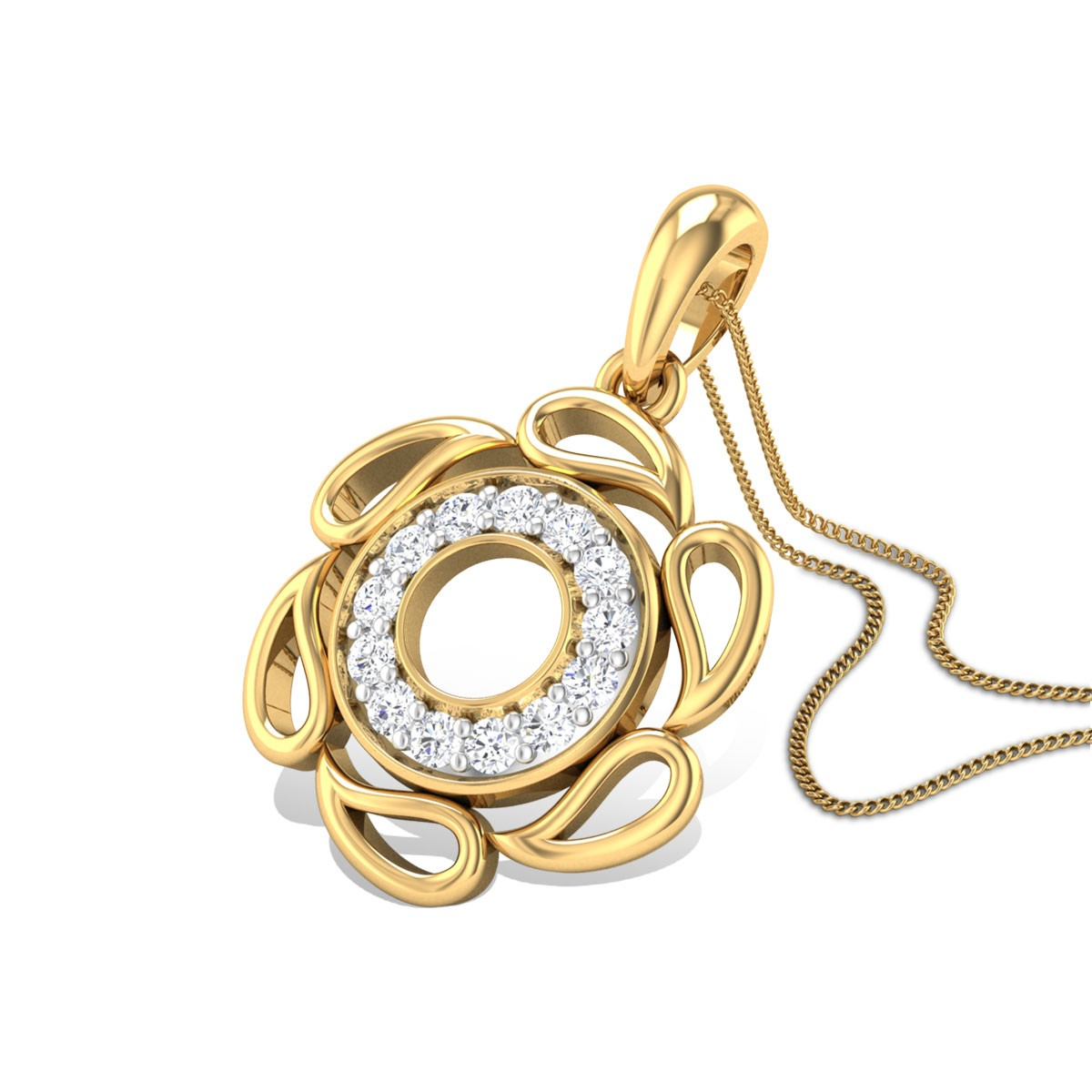 Salvia Diamond Pendant