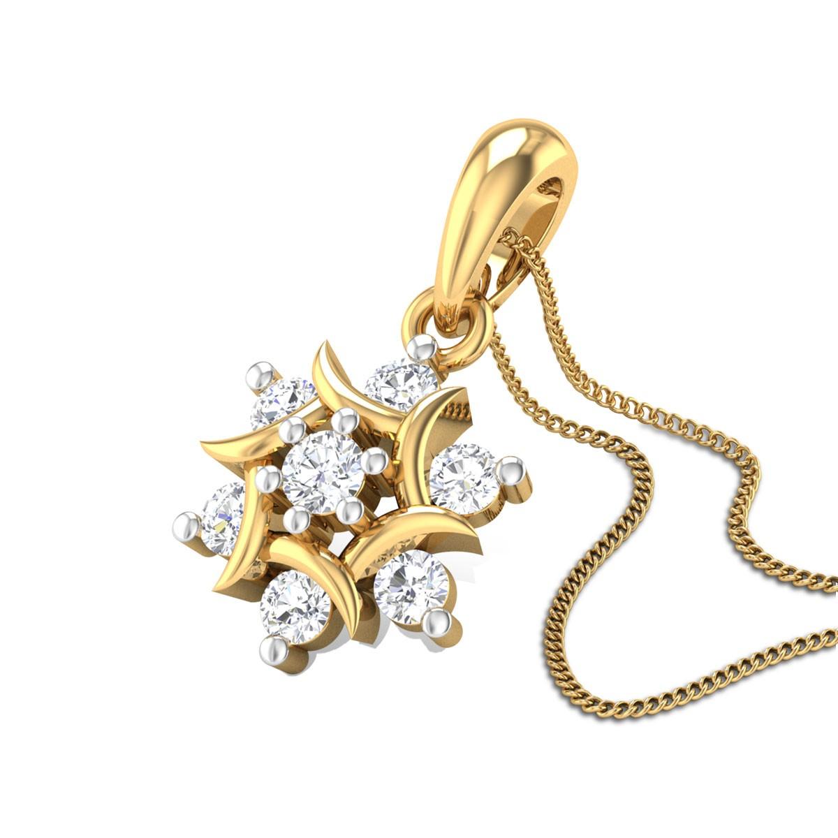 Cherokee rose Diamond Pendant
