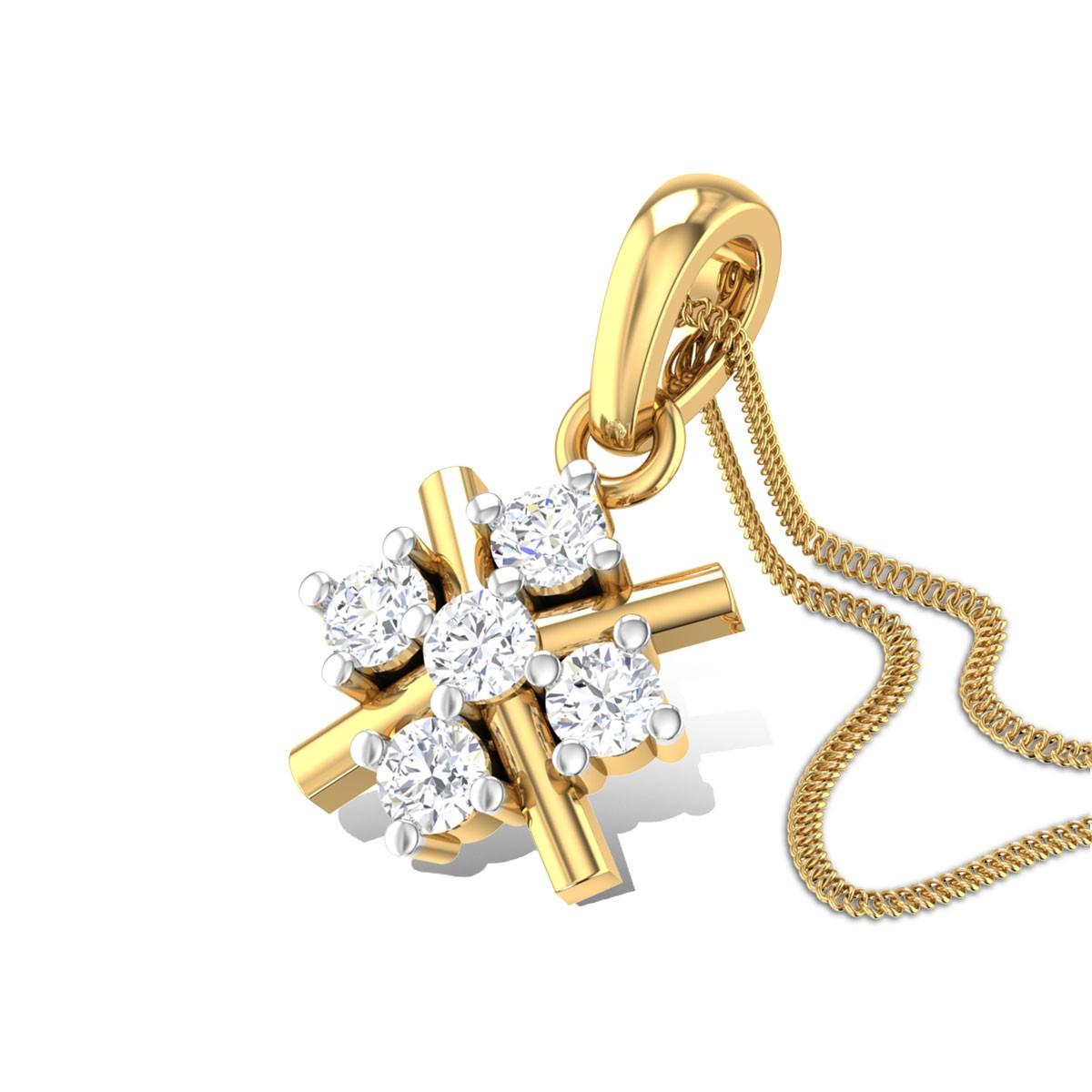 Ring of Hearts Diamond Pendant