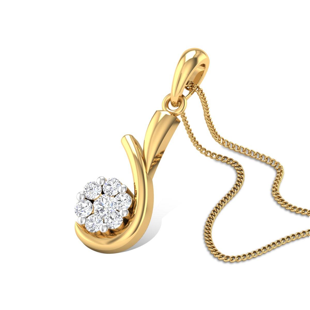 Wild Prairie Rose Diamond Pendant