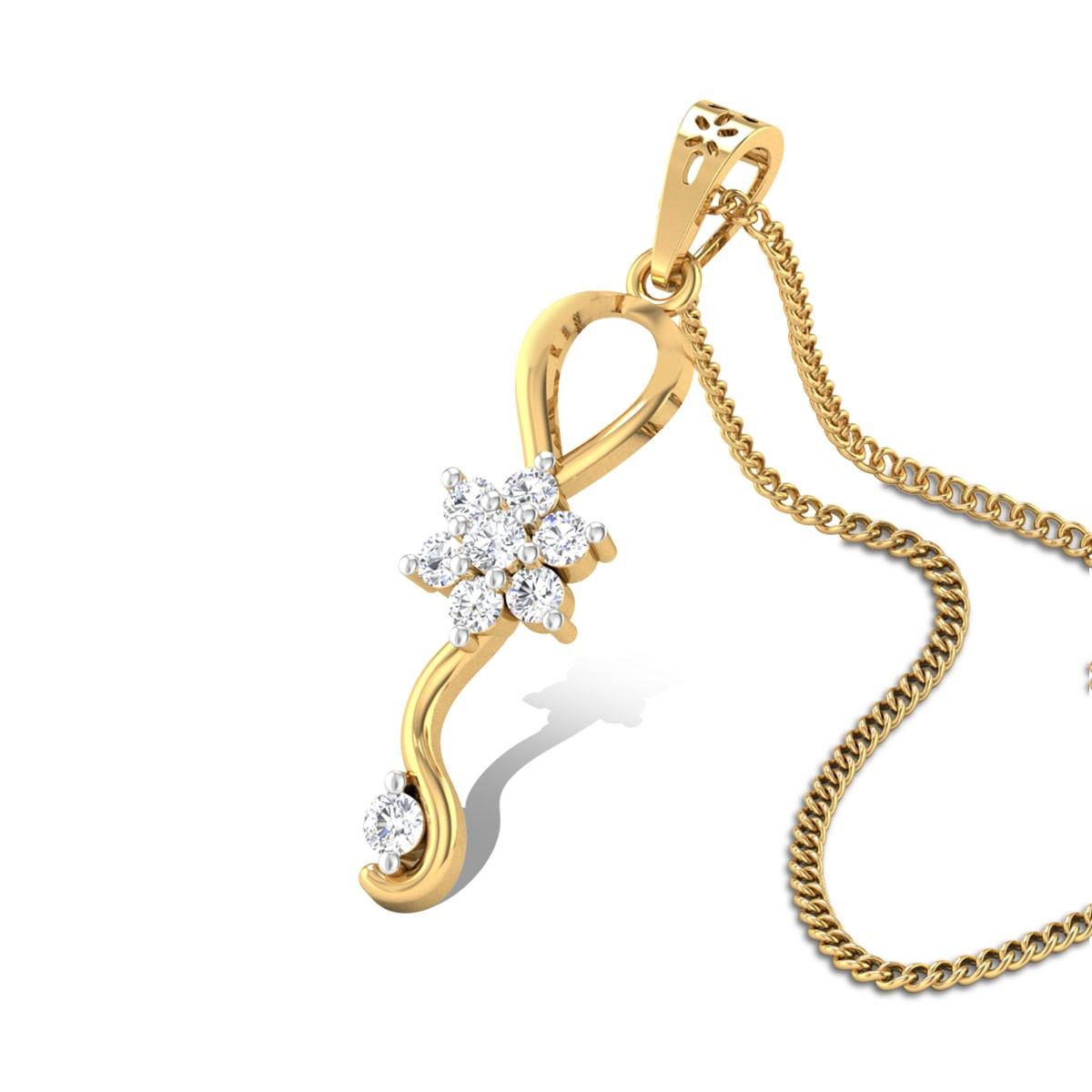 Magnolia Diamond Pendant