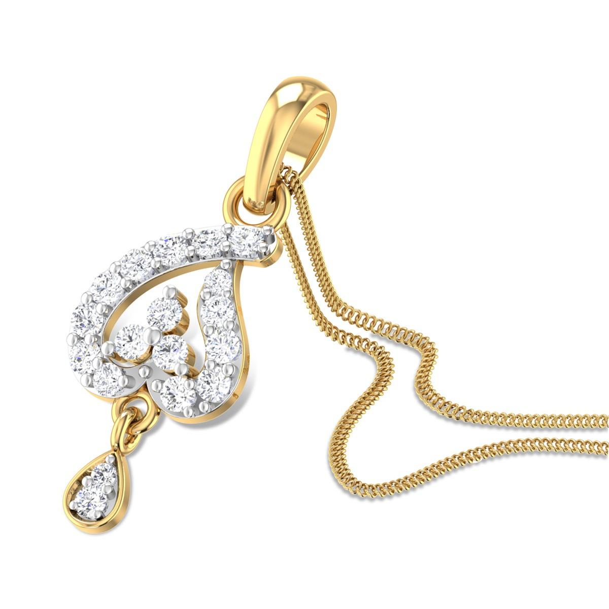 Spade Drop Diamond Pendant