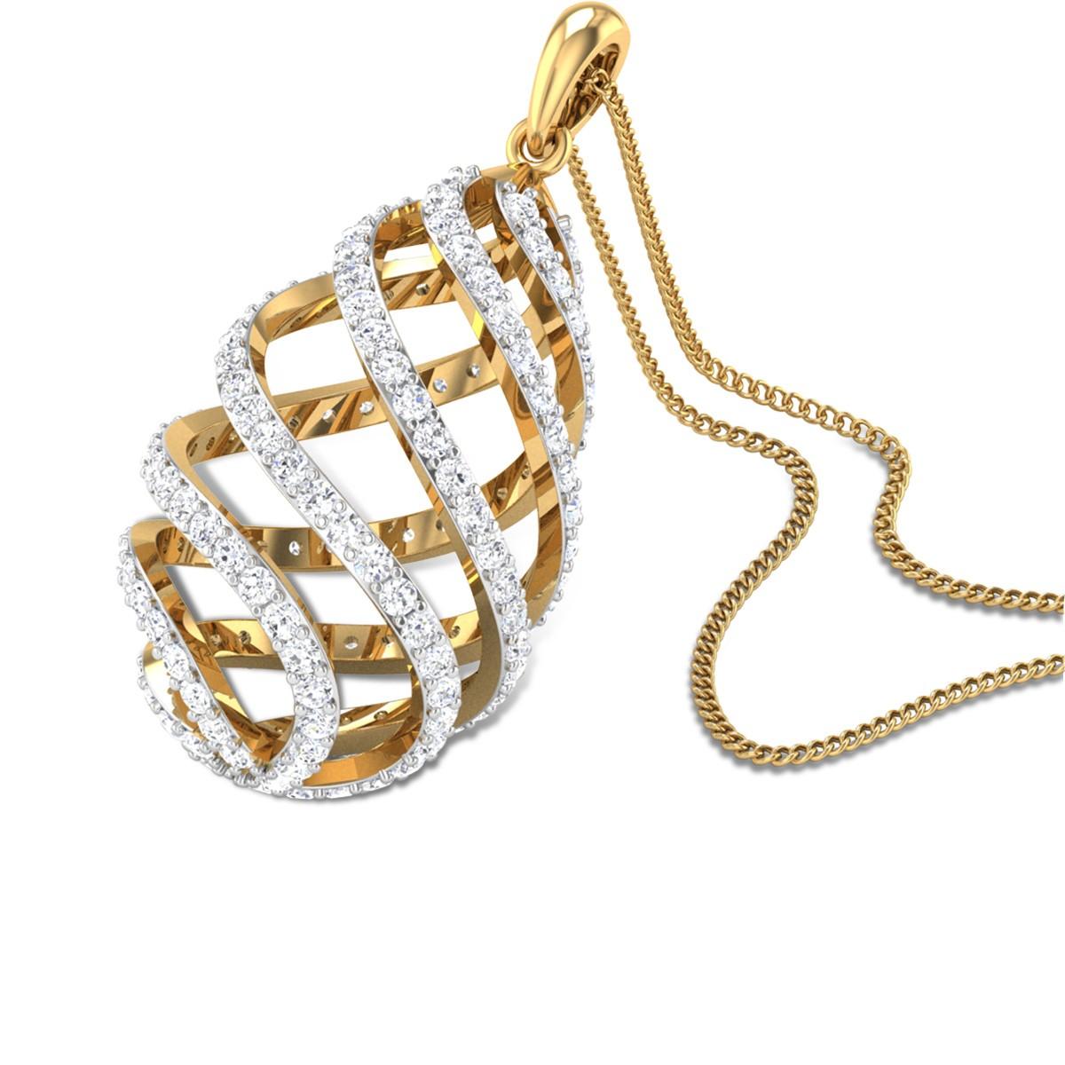 Bird's nest Diamond Pendant