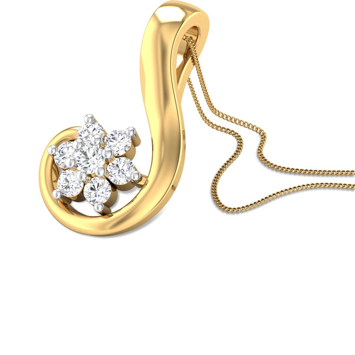 Auricula Diamond Pendant