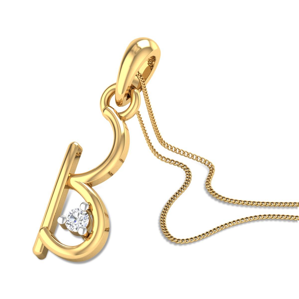 Initial B Diamond Pendant