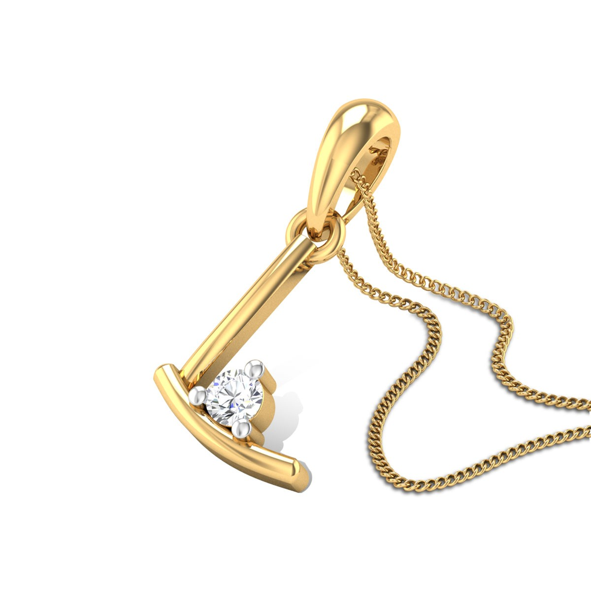 Initial L Diamond Pendant