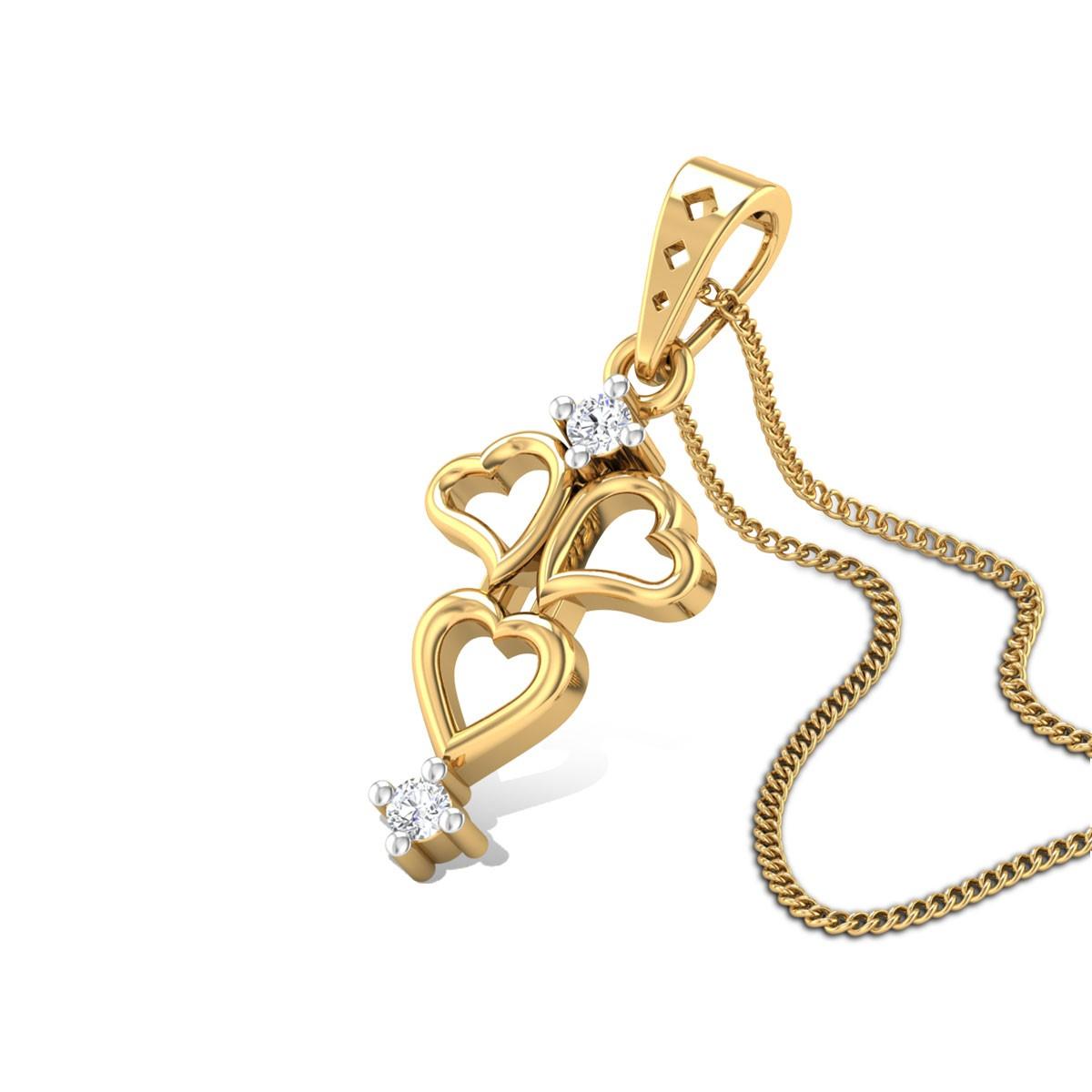 Buy Dancing Hearts Diamond Pendant Online