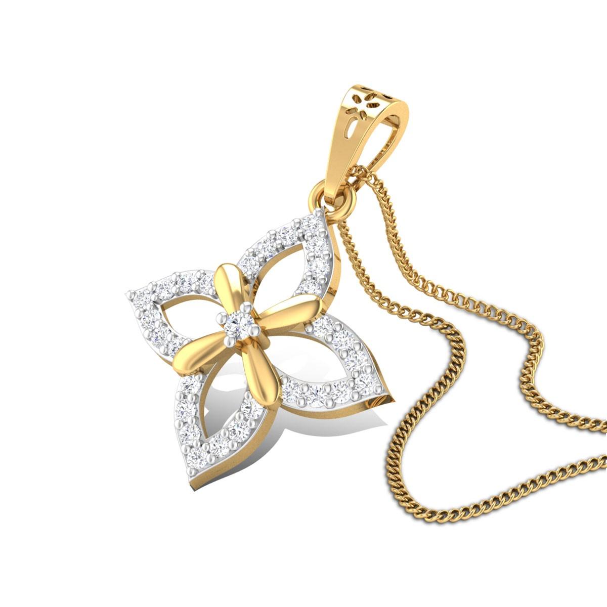Petal Charm Diamond Pendant