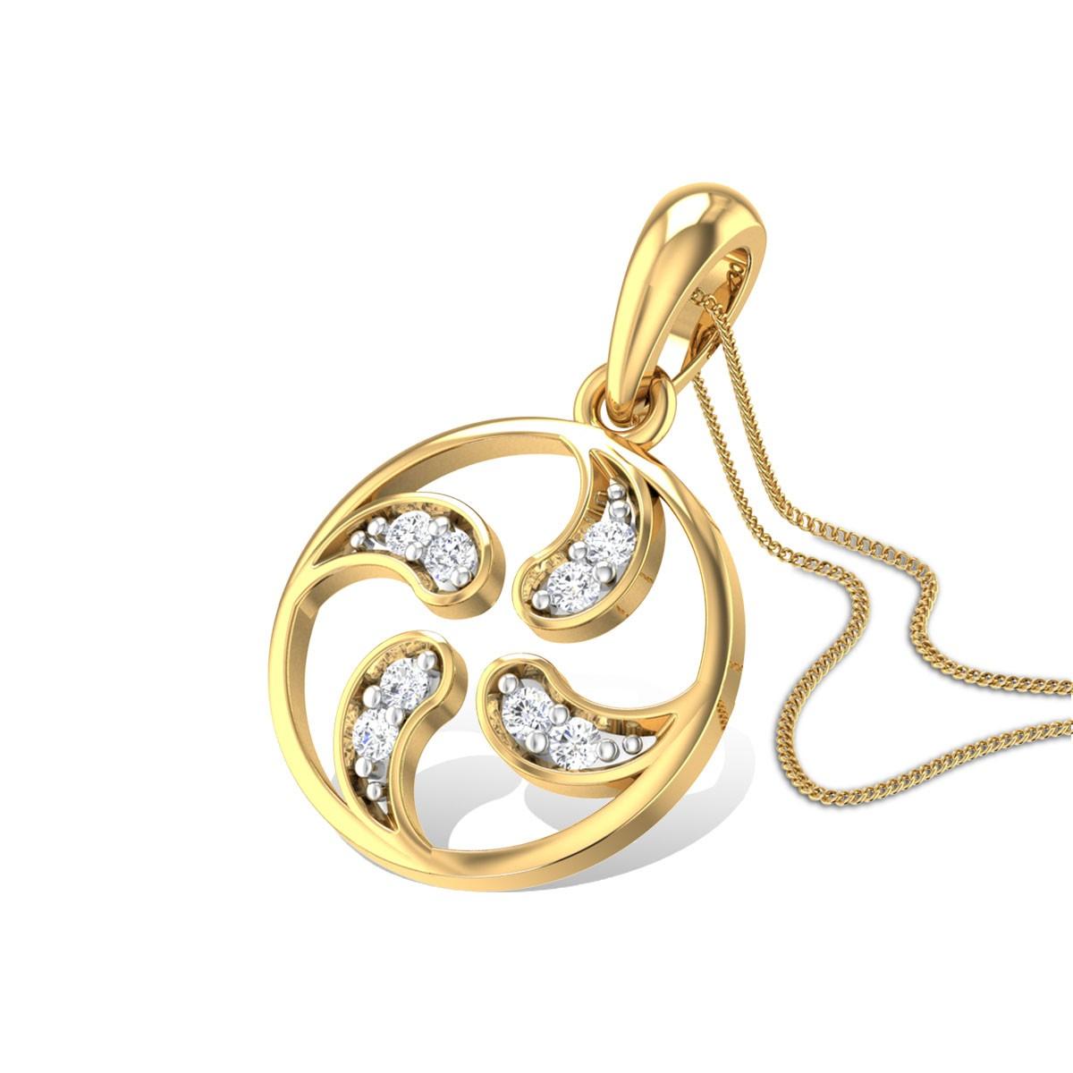 Yin Yang Diamond Pendant