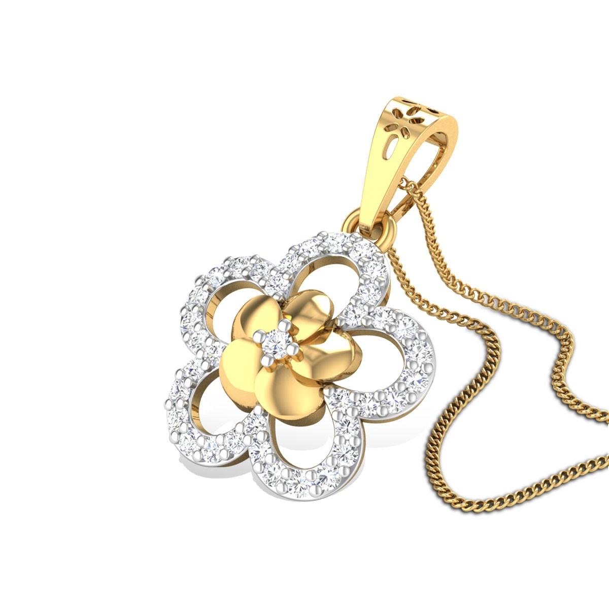 Double Lilly Diamond Pendant