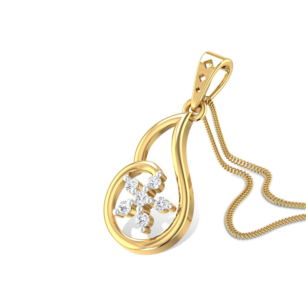 Christmas Rose Diamond Pendant