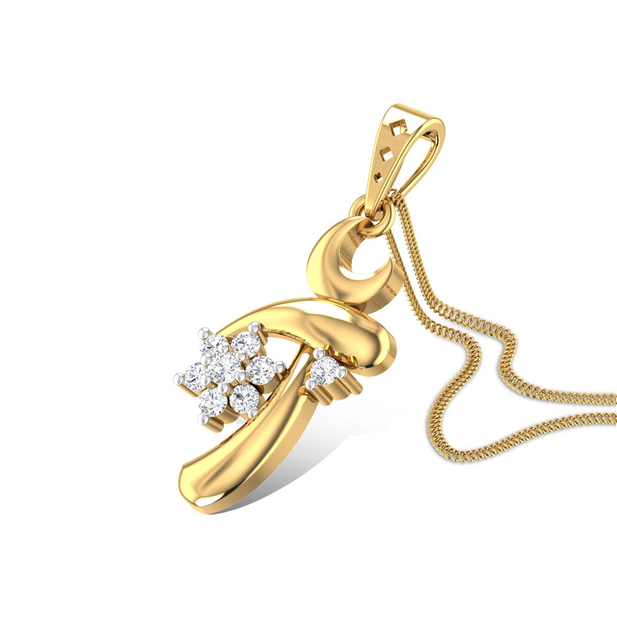 Flora's Bell Diamond Pendant