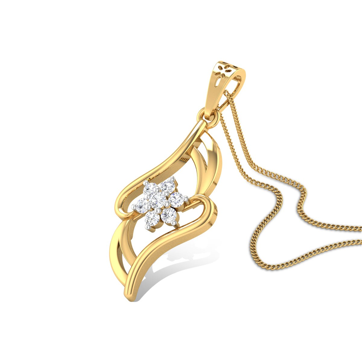Gentle Caress Diamond Pendant