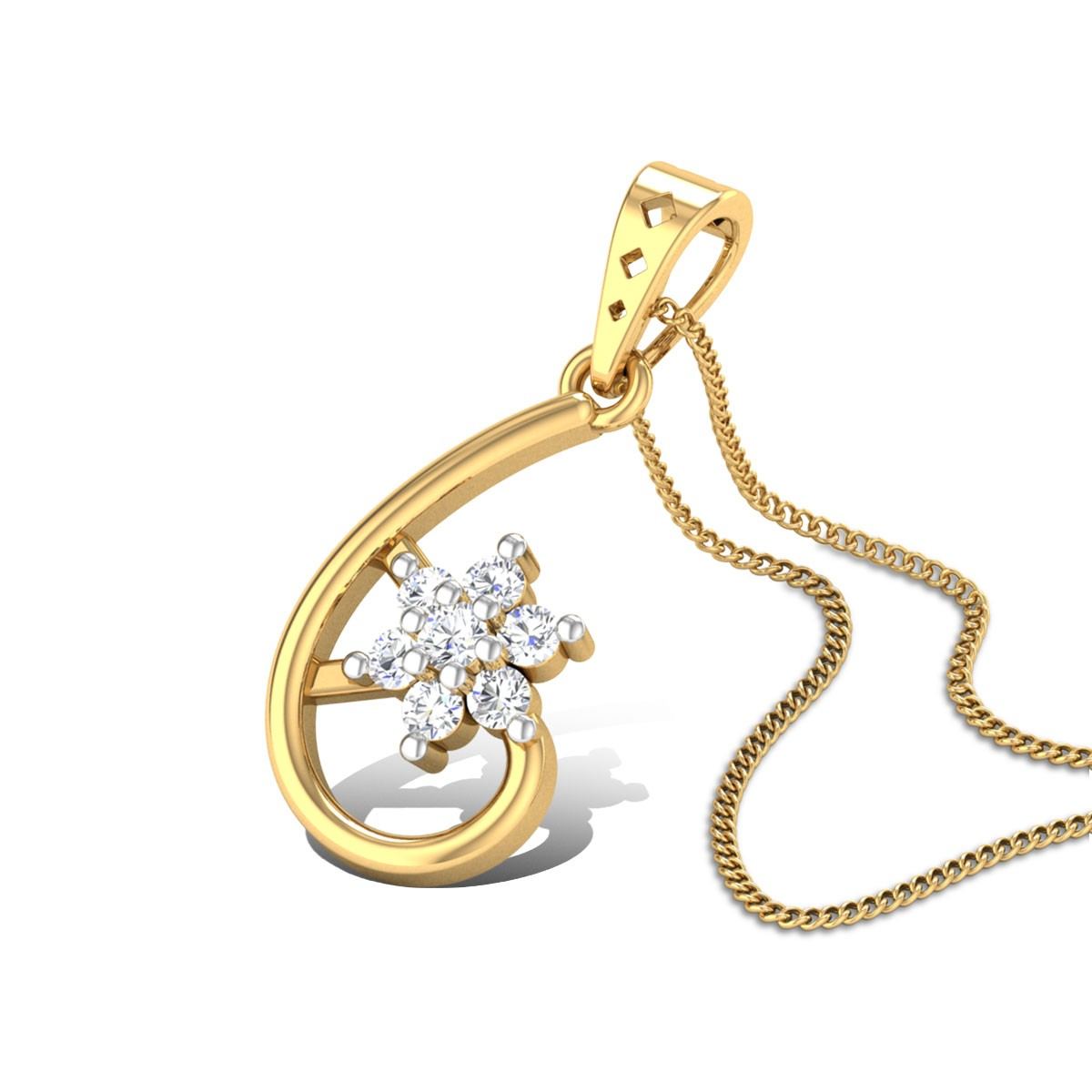 Passion-Flower Diamond Pendant