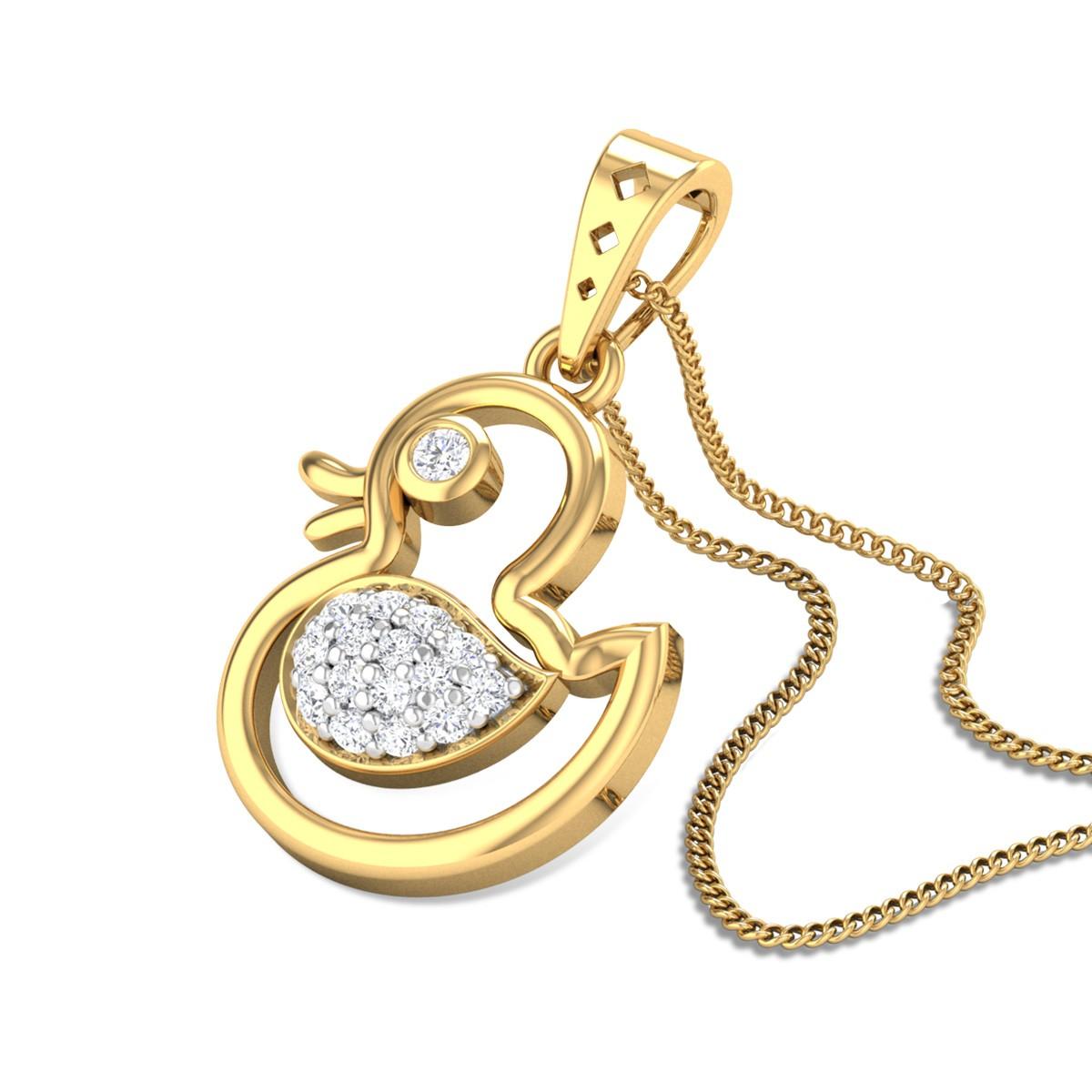 Duck Diamond Pendant