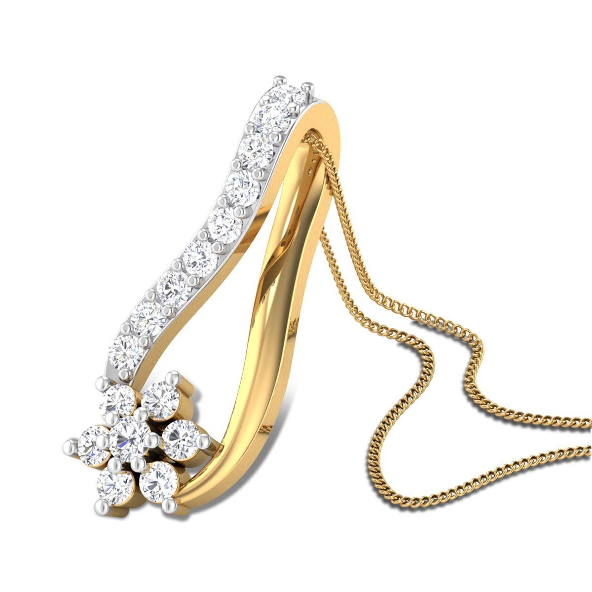 Periwinkle Diamond Pendant